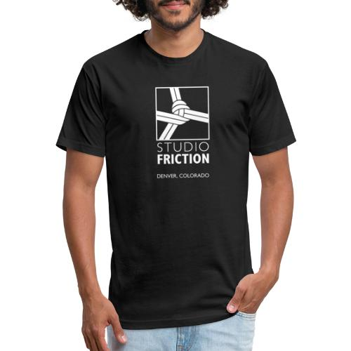 Studio Friction White - Fitted Cotton/Poly T-Shirt by Next Level