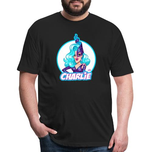 Dame Charlie Hides by Glen Hanson - Fitted Cotton/Poly T-Shirt by Next Level