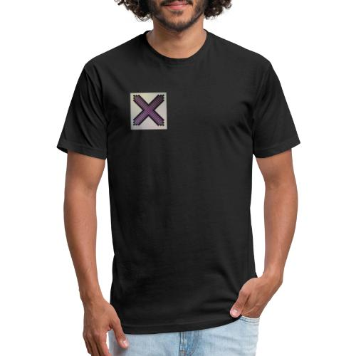 Purple XaRo - Fitted Cotton/Poly T-Shirt by Next Level