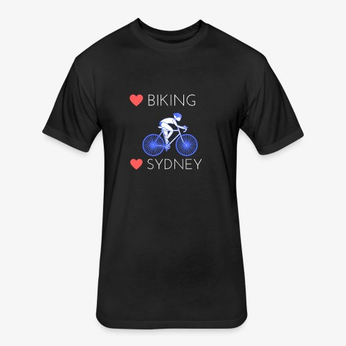 Love Biking Love Sydney tee shirts - Fitted Cotton/Poly T-Shirt by Next Level