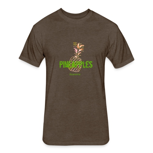 pineapples - Fitted Cotton/Poly T-Shirt by Next Level