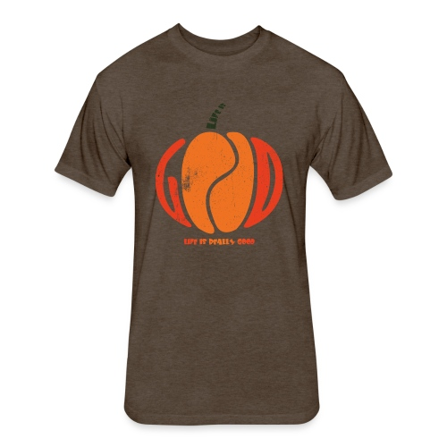 Life Is Really Good Pumpkin - Fitted Cotton/Poly T-Shirt by Next Level