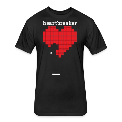 Heartbreaker Valentine's Day Game Valentine Heart - Fitted Cotton/Poly T-Shirt by Next Level