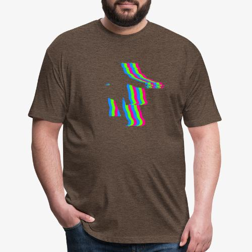 silhouette rainbow cut 1 - Fitted Cotton/Poly T-Shirt by Next Level