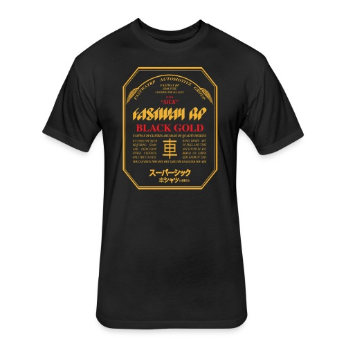 Fastway Beer Can Black Gold - Fitted Cotton/Poly T-Shirt by Next Level