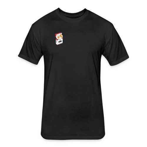 MNML Cigarette Pack - Fitted Cotton/Poly T-Shirt by Next Level