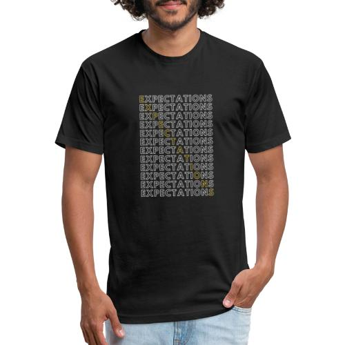 Expectations Stacked - Fitted Cotton/Poly T-Shirt by Next Level