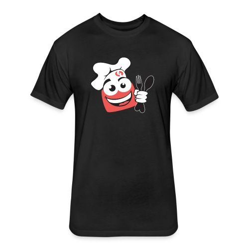 FoodTube Dude - Fitted Cotton/Poly T-Shirt by Next Level