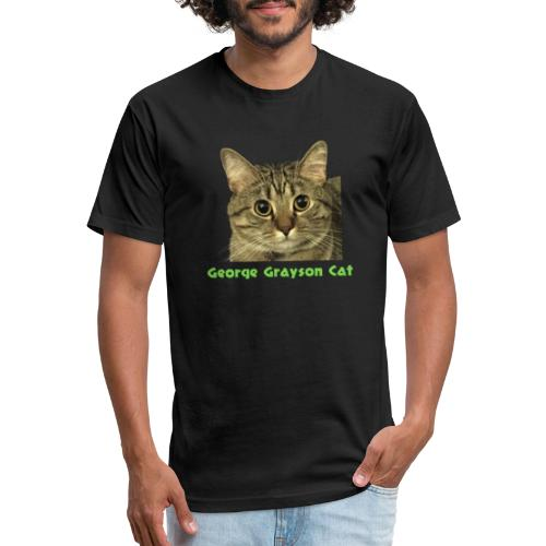 George Grayson Cat - Fitted Cotton/Poly T-Shirt by Next Level