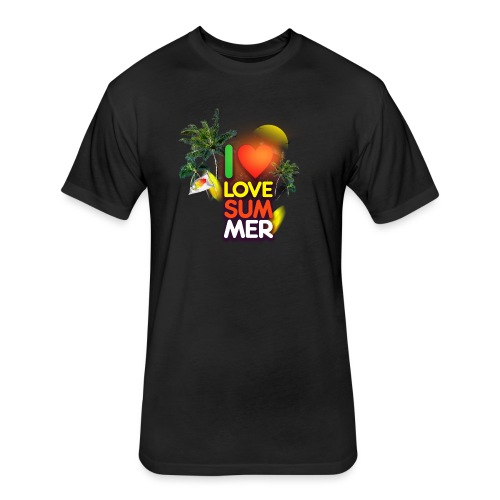 I love summer - Fitted Cotton/Poly T-Shirt by Next Level
