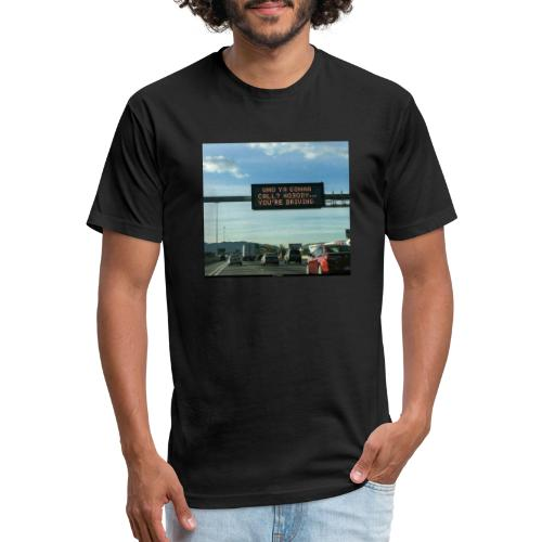 Drive - Fitted Cotton/Poly T-Shirt by Next Level