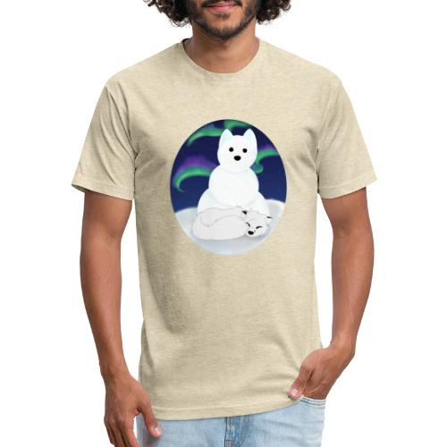 Arctic Aurora - Fitted Cotton/Poly T-Shirt by Next Level