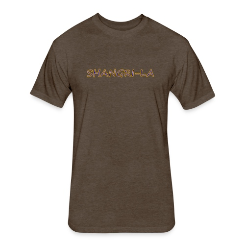 Shangri La gold blue - Fitted Cotton/Poly T-Shirt by Next Level