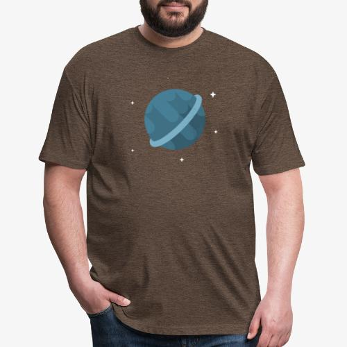 Tiny Blue Planet - Fitted Cotton/Poly T-Shirt by Next Level