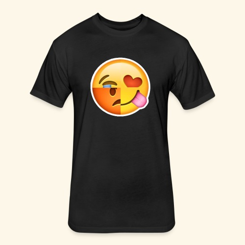 E Tees , Unique , Love , Cry, angry - Fitted Cotton/Poly T-Shirt by Next Level