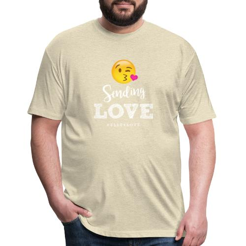 Sending Love - Fitted Cotton/Poly T-Shirt by Next Level