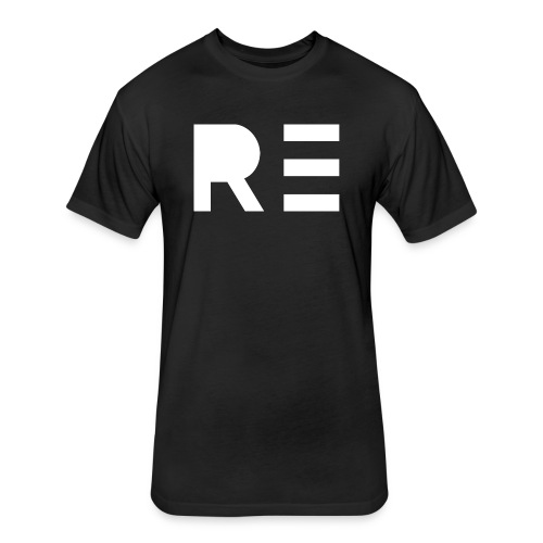 RE Logo - Fitted Cotton/Poly T-Shirt by Next Level