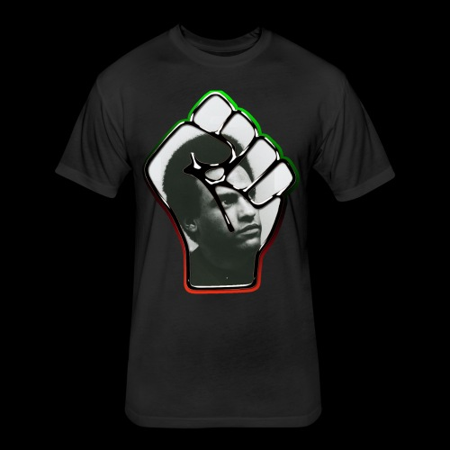 Huey Newton RBG Fist - Fitted Cotton/Poly T-Shirt by Next Level