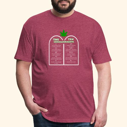 The Ten Commandments of cannabis - Fitted Cotton/Poly T-Shirt by Next Level