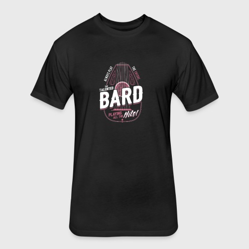 Bard Class Fantasy RPG Gaming - Fitted Cotton/Poly T-Shirt by Next Level