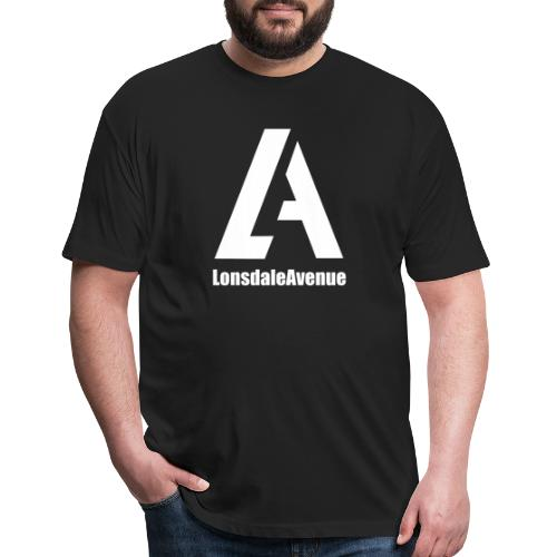 Lonsdale Avenue Logo White Text - Fitted Cotton/Poly T-Shirt by Next Level