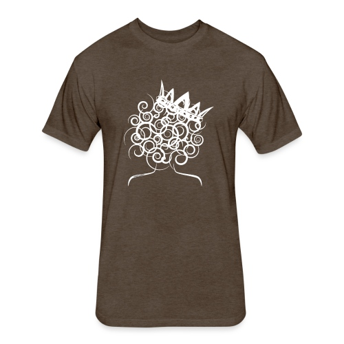 Curly Queen with Crown_ GlobalCouture Women's T-Sh - Fitted Cotton/Poly T-Shirt by Next Level