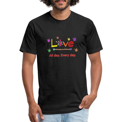T design - Fitted Cotton/Poly T-Shirt by Next Level