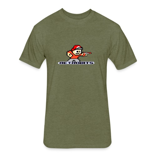 RetroBits Clothing - Fitted Cotton/Poly T-Shirt by Next Level