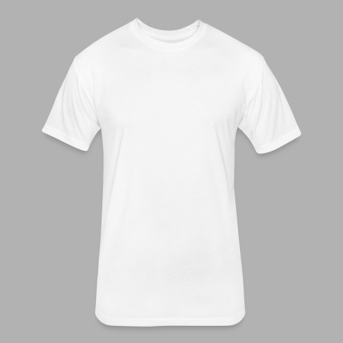 All Saints Logo White - Fitted Cotton/Poly T-Shirt by Next Level