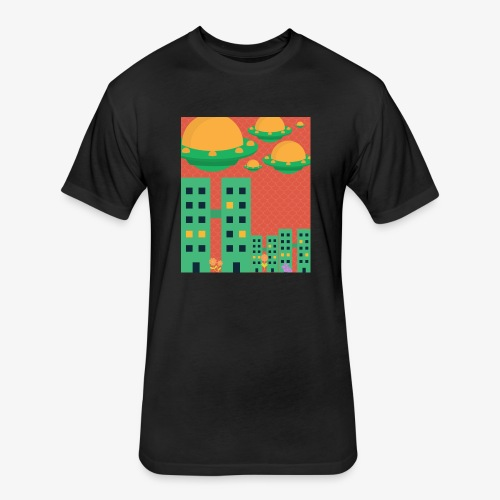 wierd stuff - Fitted Cotton/Poly T-Shirt by Next Level