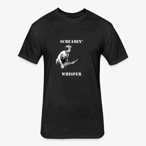 Screamin' Whisper Filth Design - Fitted Cotton/Poly T-Shirt by Next Level