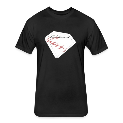 Blood Diamond -white logo - Fitted Cotton/Poly T-Shirt by Next Level