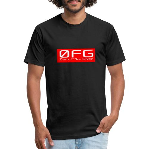 Zero Fks Given - Fitted Cotton/Poly T-Shirt by Next Level
