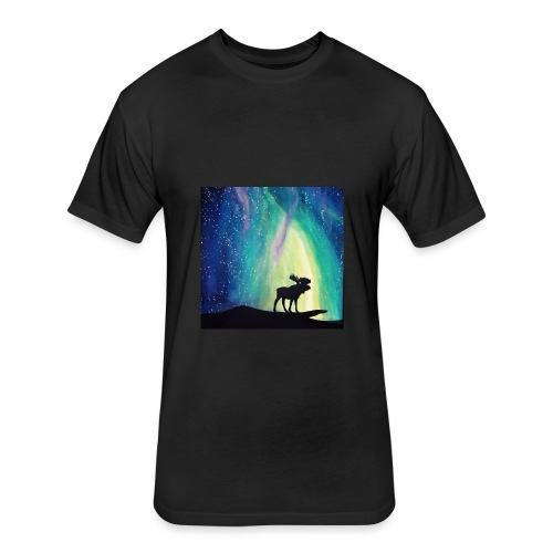 Night Moose - Fitted Cotton/Poly T-Shirt by Next Level