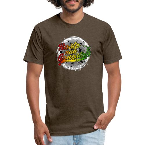 Rasta nuh Gangsta - Fitted Cotton/Poly T-Shirt by Next Level