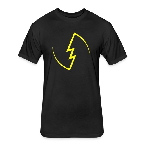 Electric Spark - Fitted Cotton/Poly T-Shirt by Next Level