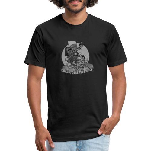 Quitate de la Via Perico B n W transparent - Fitted Cotton/Poly T-Shirt by Next Level