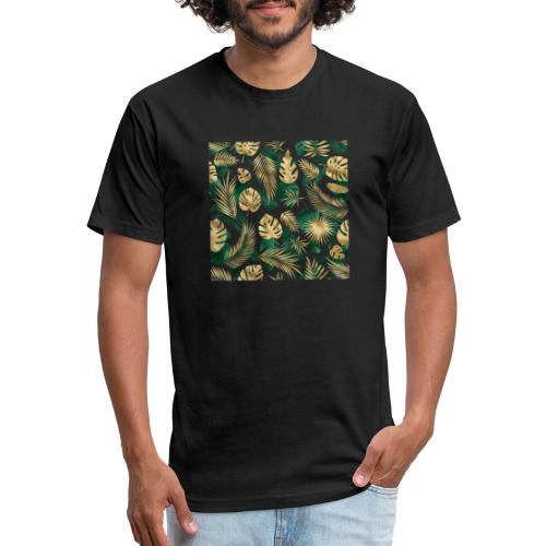 leaf overlay 1 - Fitted Cotton/Poly T-Shirt by Next Level