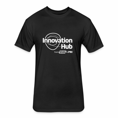 Innovation Hub white logo - Fitted Cotton/Poly T-Shirt by Next Level