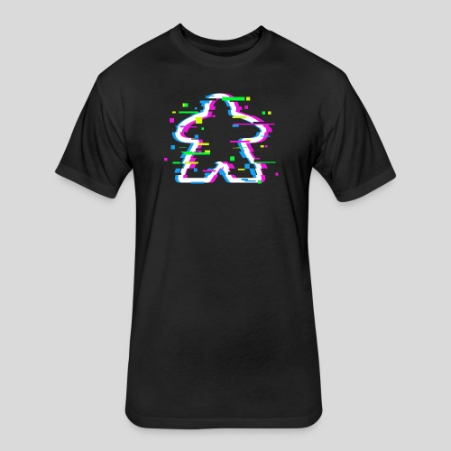 Glitched Meeple - Fitted Cotton/Poly T-Shirt by Next Level