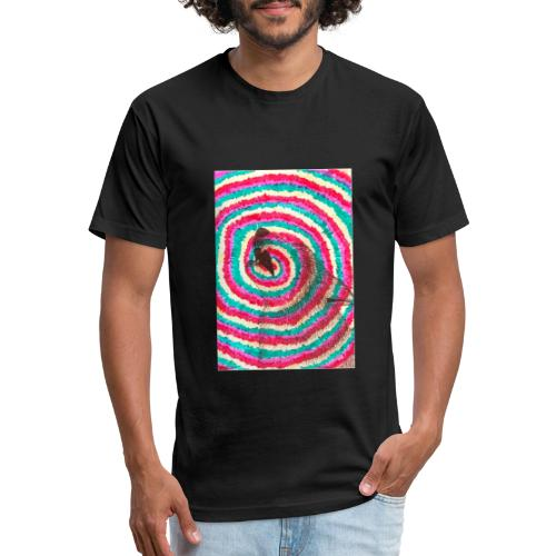 Spiraling Wolf - Fitted Cotton/Poly T-Shirt by Next Level