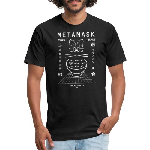 MetaMask Vaporwave- Devcon 5 - Fitted Cotton/Poly T-Shirt by Next Level