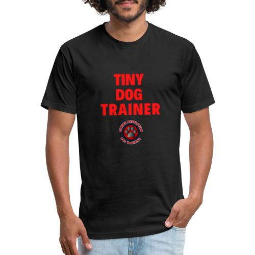 Tiny Dog Trainer - Fitted Cotton/Poly T-Shirt by Next Level