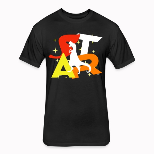 The DinoStar - Fitted Cotton/Poly T-Shirt by Next Level