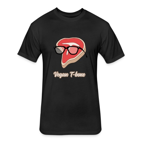 Vegan T bone - Fitted Cotton/Poly T-Shirt by Next Level