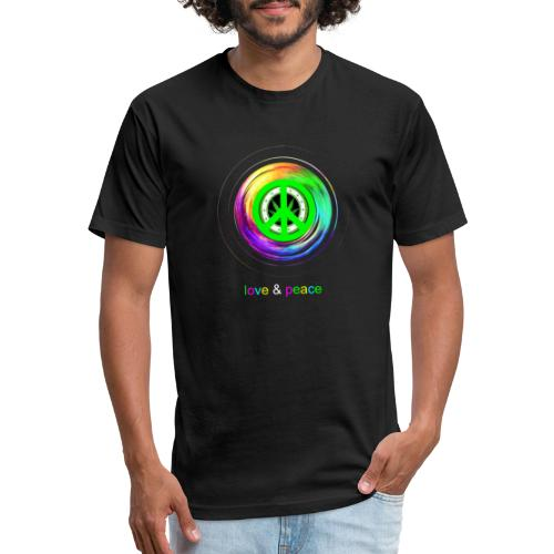 Love And Peace - Fitted Cotton/Poly T-Shirt by Next Level