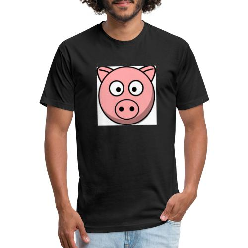 Piggy Mask - Fitted Cotton/Poly T-Shirt by Next Level