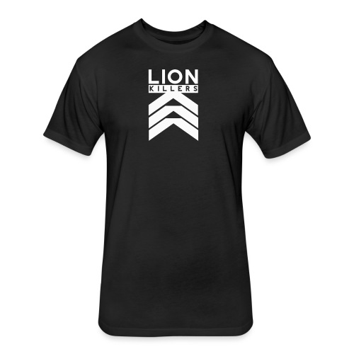 Lion Killers Front Logo - Dark Range - Fitted Cotton/Poly T-Shirt by Next Level
