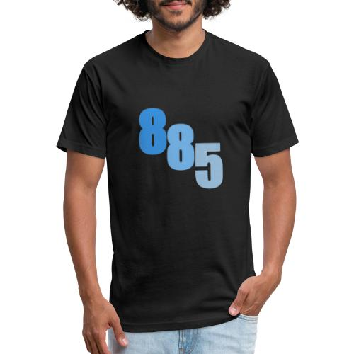 885 Blue - Fitted Cotton/Poly T-Shirt by Next Level