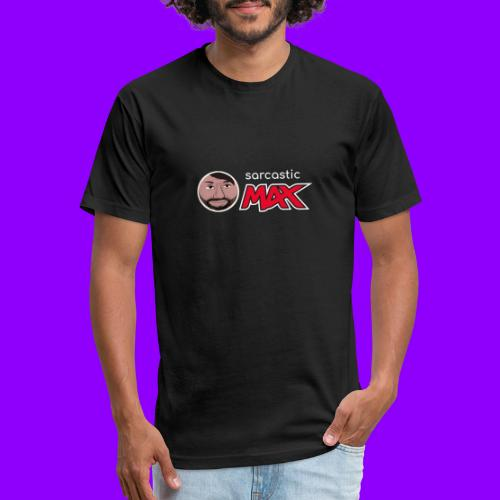 SarcasticMax cola beverage logo - Fitted Cotton/Poly T-Shirt by Next Level
